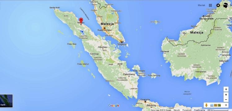 mapa Sumatra